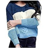 TEFIIR Black Friday Damen Sweatshirt Pullover mit Strickmuster und Lockerem V-Ausschnitt Strickjacke...