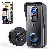 Victure Smart Video Türklingel Kamera Kabellos mit 1080P HD, PIR Bewegungserkennung, Zwei Wege...