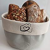 RingsHome - Hochwertiger Brotkorb aus 100% Baumwolle, Ø 20cm, zum stilvollen Servieren und...