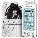 AUVON 4 Kanäle TENS Gerät EMS Trainingsgerät für Schmerzlinderung Therapie mit 24 Modi Elektro...