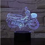 Neu 3D Illusion Nachtlicht Home Muss LED Nachtlicht Motorrad 3D Tischlampe Glühbirne 3D Illusion...