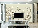 Schöne Traum 3D Relief weiße Stereo Blume TV Hintergrund Wand-430 * 300