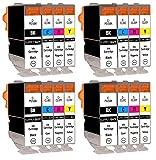 SupplyGuy 16 Druckerpatronen kompatibel mit Canon PGI-5 CLI-8 Multipack für Pixma IP3300 IP3500...