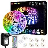 LED Strip Lichtband 5M, SHOPLED RGB SMD 5050 LED Streifen Selbstklebend, Farbwechsel Led...