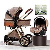 Kühlventilatoren für Kinderwagen, 3-in-1 Baby-Kinderwagen, Reisetasche, Kinderwagen für...