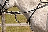 Rhinegold 0 Elegance Stitched Breastplate-Pony-Black Vorderzeug, Schwarz