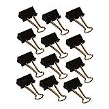 Wedo 6421425 Foldback Klammern, lackiertes Metall abnehmbare Bügel, starke Feder, 25 mm, 12 Stück,...