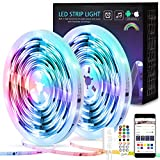 Dreamcolor LED Streifen 10m,Kintty Upgrade Version Eingebauter IC LED Strip,RGB 5050 Lichtband Mit...