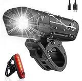 Tatopa Fahrradlicht Led Fahrradbeleuchtung Set | Fahrradlampe USB Wiederaufladbare Frontlicht und...