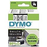 DYMO D1-Etikettenband Authentisch | 9mmx7m | schwarzer Druck auf weißem Untergrund |...