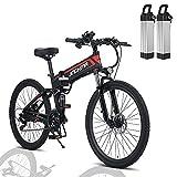 Ebike Klapprad 26 Zoll, 2 x 10Ah Llithium Batterie Elektro-Mountainbike, 800W 48V Citybike...