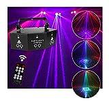 ZhanMa Discolicht Partylicht - 9 Augen Discokugel LED Party Lampe, Muster Licht, Blitzlicht DMX...