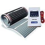 15m² floorino Fußbodenheizung KomplettPaket MIT Thermostat TE170 UND Zubehör BESTE SPARSAMKEIT...