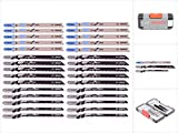 Bosch Professional 2607010903 Professional Stichsgeblatt Set, 1 V, grau, 30 Stck