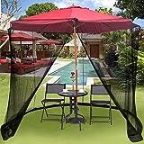 ZMHVOL Outdoor-Regenschirm im Freien Garten-Sonnenschirm Tisch Screen Table Set Schirm Haus - Large...