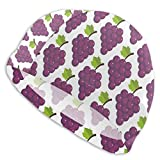 huatongxin Purple Grape Wallpaper Badekappen für Männer und Frauen Are Also Suitable for Boys and...