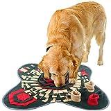 IEUUMLER Schnüffelteppich für Hunde Riechen Trainieren Intelligenzspielzeug Futtermatte...