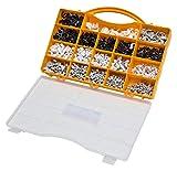 Kabelschellen Set für Rundkabel 1020tlg weiß schwarz grau Nagelschellen Kabelhalter...