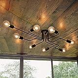 OYIPRO Vintage Deckenleuchte 8-flammig Deckenlampe Kronleuchter Licht Industriellampe E27...