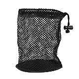 Nimoa Golfball-Tasche Golf-Aufbewahrungstasche mit doppelten Maschennetzen Golfball-Sammeltasche(L)