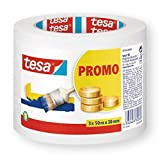 tesa Malerband für einfache Malerarbeiten, 3er Pack, 50m x 30mm