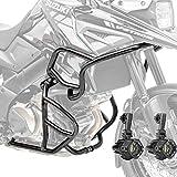 Set Sturzbügel + Scheinwerfer für Suzuki V-Strom 1050 / XT 20-21 schwarz