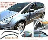 2x Windabweiser kompatibel für Ford S-MAX 2010 2011 2012 2013 2014 2015 Premium Qualität Acrylglas...