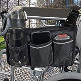Rollstühle Zubehör Rollstuhltasche - Rollstuhl Tasche für Rollstuhlarmlehnen mit Verstellbarer...