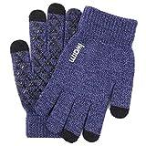 Supefriendly Paar Winter Strick Full Finger Handschuhe Anti-Rutsch Fäustlinge Gr. Einheitsgröße,...