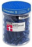 Schneider Tintenpatronen (Standard Patronen für Füller, löschbar) königsblau, 100 Stück