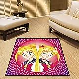 zzqiao Teppich Hause Moderne Japanische Anime Sailor Moon Moon Magic Kinderzimmer Spiel Pad...