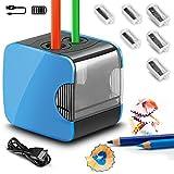 Elektrischer Anspitzer,Qhui automatischer Bleistiftspitzer elektrisch fr Kinder,Batterie und USB...