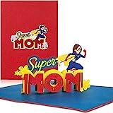 PaperCrush Pop-Up Karte Muttertag Super Mom - Lustige 3D Muttertagskarte, Geburtstagskarte fr die...