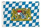 Aricona Bayern Flagge - Freistaat Bayern Fahne 90 x 150 cm mit Messing-Ösen - Wetterfeste Fahne...