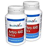 Bestprovita 2x Artro 441 Extra Kapseln, bei Arthrose und Gelenkschmerzen, für Gelenke, mit...