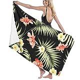 N/A Strandtuch aus Mikrofaser, Tropische Blumen und Dschungel, für Erwachsene, 81,3 x 137,1 cm,...
