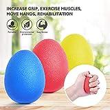 LEONMAR 3 Stück Eiförmige Griffbälle, Antistressball, Lacrosseball, Selbstmassage Bälle,...