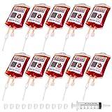 10 Stück Halloween Trinkgefäß Blutbeutel Zum Befüllen Blutbeutel IV Taschen Getränkebehälter...