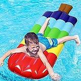succeedw Aufblasbares Pool Float Raft, Auenpool Aufblasbares Float Giant Pool Floating Row...