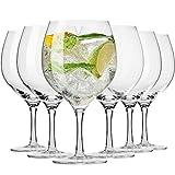 Krosno Gin Glas Wassergläser | Set von 6 | 700 ML | Harmony Kollektion | Perfekt für Zuhause,...