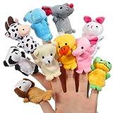 ThinkMax Fingerpuppen Baby, 10 Stck Fingerpuppen Tiere Set fr Baby und Kinder