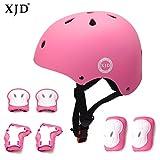 XJD Kombi Kinder Fahrradhelm Klassiker 1.0 + 6 Schutzausrüstung Schonerset für Kinderroller...
