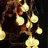 [3 Stück] Solarleuchten für den Außenbereich, Kristallkugellichter, Lichterketten,...