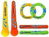 Schildkröt Neopren Diving Set, 6-teiliges Tauchset, je 2 Ringe, Stäbe, Bälle, Sandfüllung,...