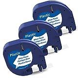 Markurlife kompatible Etikettenband als Ersatz für Dymo Etikettenband LetraTag Plastic White 12mm x...