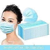 Einwegmaske Masken 3 Etagen Atmungsaktiv Und Bequem Im Freien Unisex Staubdicht Wasserdicht Blau 20...