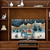 SWEAR Displayschutz für Fernseher Baumwolle und Bettwäsche Halbpaket-Design Staubdicht...