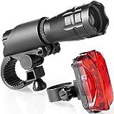 TDNE Superhelle LED fahrradlicht Set - Einfache Montage fahrradlampe vorne mit...
