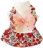 Pet Supplies tägliche Pet Verwenden Hund Erdbeere Kleid mit Bowknot, Hundekostüm Winter Frühling...
