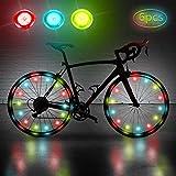 LATTCURE Fahrradbeleuchtung Fahrradlicht Fahrradlampe, LED Fahrrad Speichenlicht Fahrrad Rad Licht...